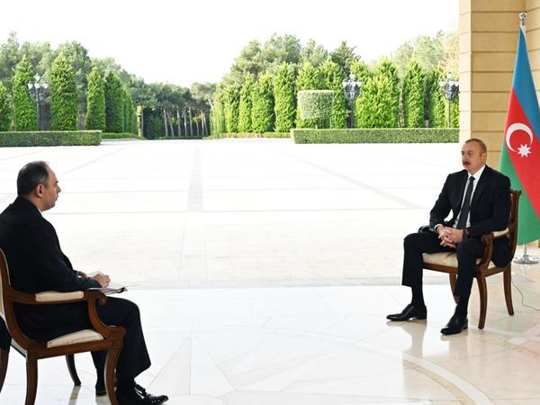 Prezident İlham Əliyev Rusiyanın İnterfaks agentliyinə müsahibə verib - FOTO