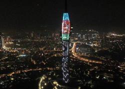 """İstanbulda Televiziya və Radio Qülləsi üçrəngli bayrağımızın rənglərinə büründü - <span class=""""color_red"""">FOTO</span>"""