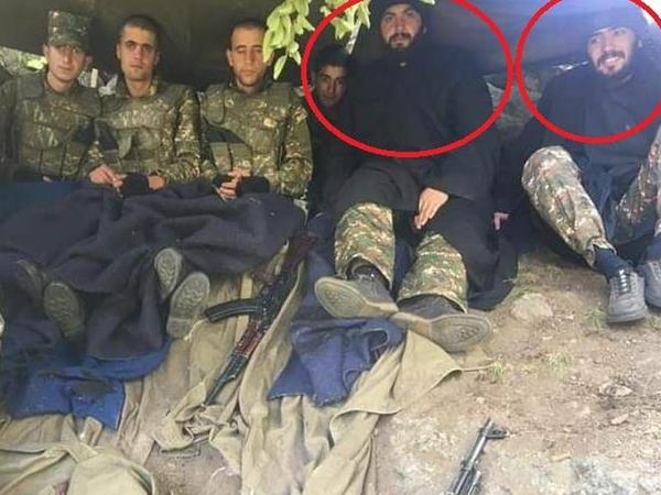 """Ermənistan ordusunda keşişlər də döyüşür - <span class=""""color_red"""">FOTOFAKT</span>"""