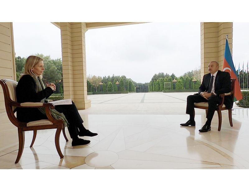 """Prezident İlham Əliyev """"BBC News""""a müsahibə verib - FOTO"""