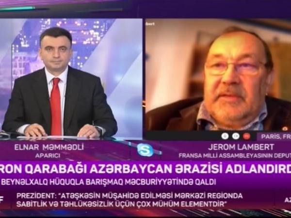 """Fransız deputat: """"Bu cür qətnamələr erməni icmasını xoşhal etməkdən o tərəfə keçməyəcək"""""""