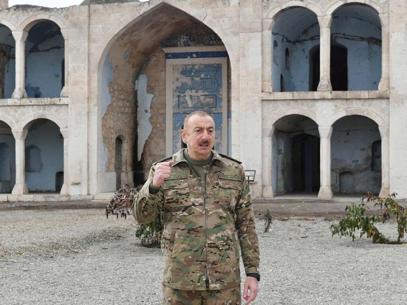 """Azərbaycan Prezidenti: """"Həmsədr ölkələrinin səfirləri bu məsciddə olublar, niyə məsələ qaldırmayıblar?"""""""