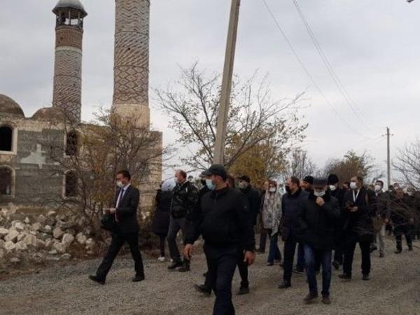 Diplomatik korpusun nümayəndələri Ağdamda Ermənistan silahlı qüvvələrinin törətdikləri vəhşiliklərin şahidi olublar - FOTO