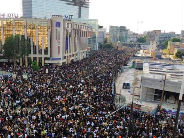 Parisdə keçirilən etiraz aksiyasında 46 min nəfər iştirak edib