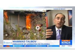Kolumbiya televiziyası erməni təcavüzünün nəticələrini işıqlandırıb - FOTO - VİDEO