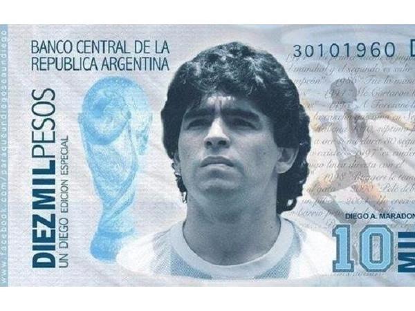 Argentinalılar Maradonanın təsviri əks olunmuş əsginasların çap olunmasını istəyirlər