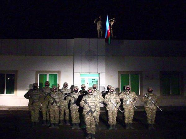 Laçında Azərbaycan bayrağı qaldırılıb - VİDEO