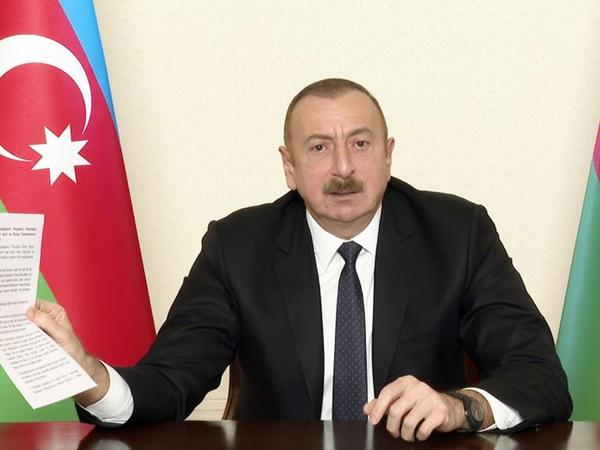 """Azərbaycan Prezidenti: """"Bizə bir santimetr də torpaq qaytarmaq istəmirdilər"""""""