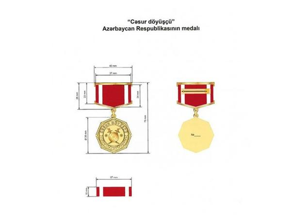 """""""Cəsur döyüşçü"""" medalının Əsasnaməsi təsdiqləndi"""
