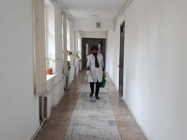 Mingəçevir Dövlət Universitetində növbəti dəfə tibbi-profilaktik və dezinfeksiya işləri aparılıb - FOTO
