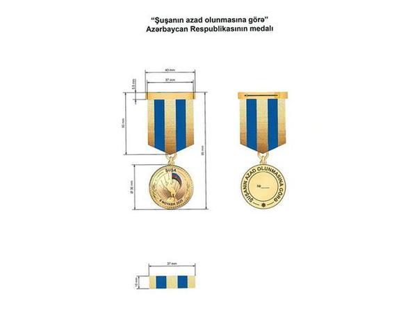 İşğaldan azad edilən rayonlar üzrə təsis edilən medalların Əsasnamələri təsdiqləndi - FOTO
