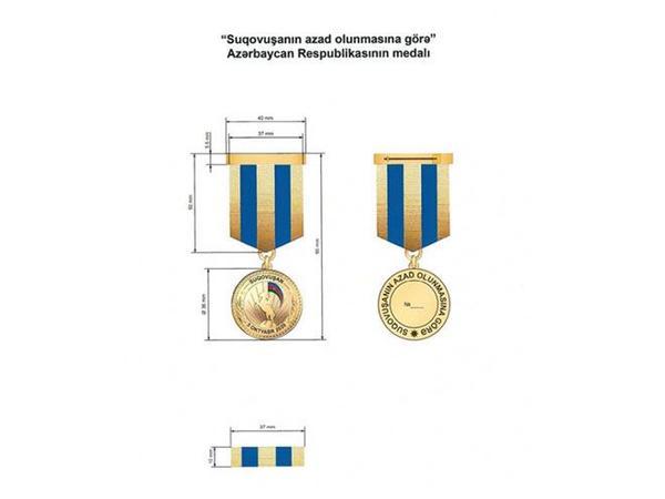 """""""Suqovuşanın azad olunmasına görə"""" medalın Əsasnaməsi təsdiqləndi"""