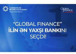 """""""Global Finance"""" Azərbaycan Beynəlxalq Bankını ən yaxşı bank seçdi"""