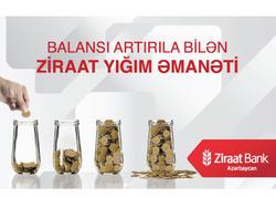"""""""Ziraat Bank Azərbaycan"""" Yığım Əmanəti məhsulunu təqdim edir!"""