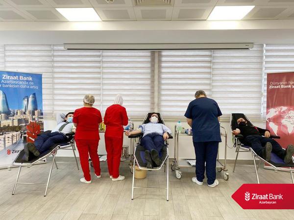 """""""Ziraat Bank Azərbaycan"""" Qanvermə aksiyası həyata keçirdi"""