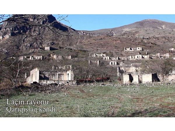 Laçın rayonunun Qarıqışlaq kəndinin GÖRÜNTÜLƏRİ - VİDEO