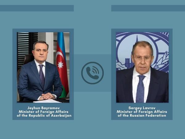 Ceyhun Bayramovun Lavrovla telefon danışığı olub