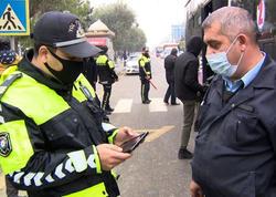 Sumqayıtda maskadan istifadə etməyənlər cərimələndilər - FOTO