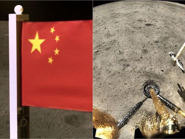 """Ayın səthinə Çinin bayrağı sancıldı - <span class=""""color_red"""">FOTO</span>"""