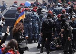 Yerevanda növbəti etiraz aksiyası başlayıb