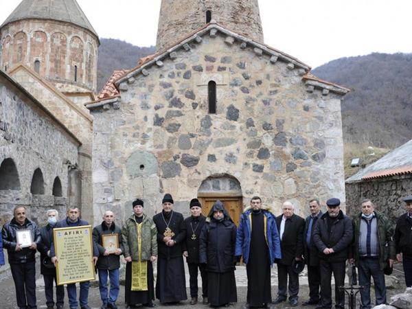 Azərbaycan Alban-udi dini icmasının nümayəndələri Xudavəngi ziyarət ediblər - FOTO