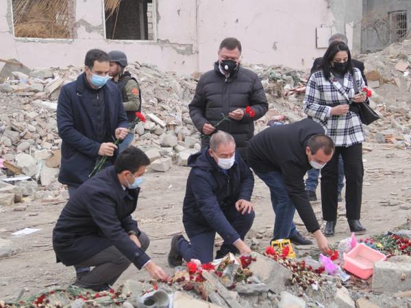 İtaliya Parlamenti Deputatlar Paltasının nümayəndə heyəti Gəncəyə səfər edib - FOTO