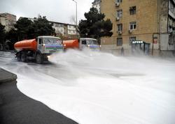 Paytaxt küçələri növbəti dəfə dezinfeksiya edildi - FOTO