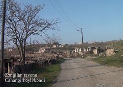 Zəngilan rayonunun Cahangirbəyli kəndi - VİDEO - FOTO