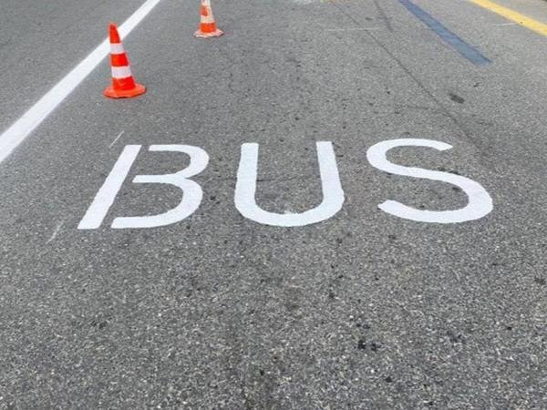 """Bu prospektdə avtobuslar üçün yeni hərəkət zolağı yaradıldı - <span class=""""color_red"""">VİDEO</span>"""