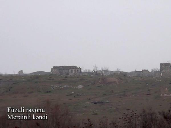 Füzuli rayonunun Merdinli kəndi - VİDEO