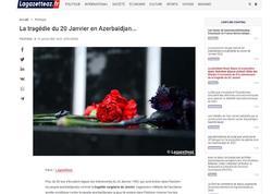 Fransa mətbuatında 20 yanvar faciəsi haqda məqalə dərc olunub