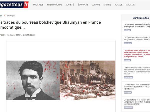 """Cəllad Stepan Şaumyanın Fransada izləri - <span class=""""color_red"""">Fransa mətbuatı</span>"""