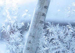 Temperatur normadan 2 dərəcə aşağı enib, aran rayonlarında da şaxta olub