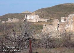 Füzuli rayonunun Dördçinar kəndi - VİDEO - FOTO
