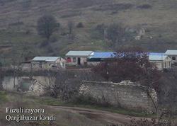 Füzuli rayonunun Qarğabazar kəndi - VİDEO