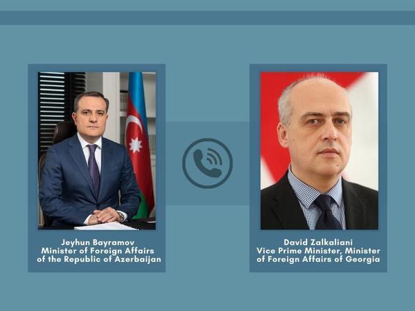 Ceyhun Bayramov gürcüstanlı həmkarl ilə telefonla danışıb
