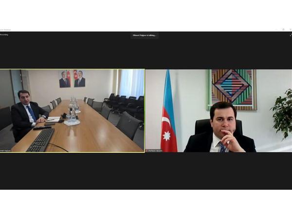 """""""Yüksəliş"""" müsabiqəsi Hikmət Hacıyevin təqdimatında vebinar təşkil edib - FOTO"""