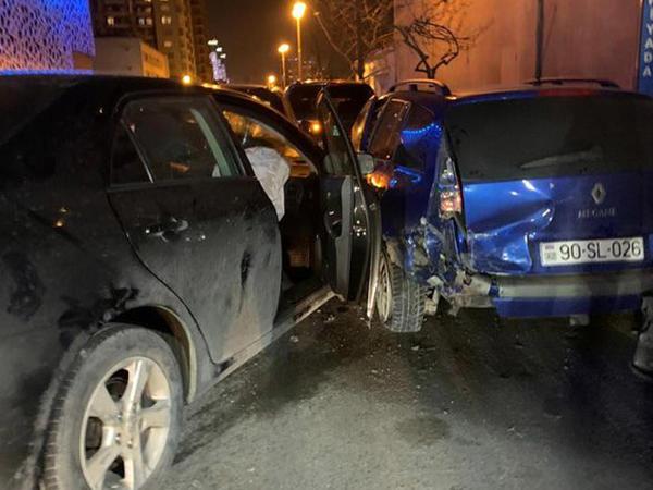 Bakıda beş avtomobil toqquşub - FOTO