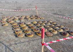Cəbhəboyu ərazilərdə 20 mina, 282 ədəd partlamamış hərbi sursat aşkarlandı - FOTO