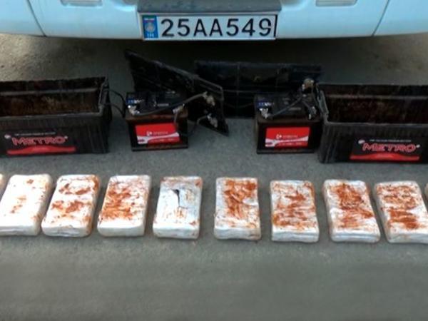 Astara gömrük postunda avtomobildə 21 kq narkotik aşkar edildi - VİDEO