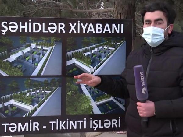 """Qaradağda uyuyan Qarabağ fatehləri - <span class=""""color_red"""">Yeni Şəhidlər Xiyabanı salınır - VİDEO</span>"""