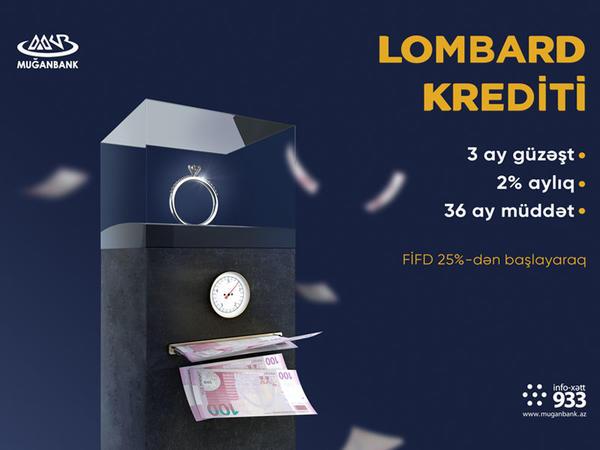 """""""Muğanbank"""" ASC-də """"Lombard"""" krediti"""