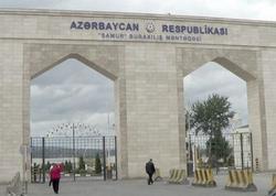 Azərbaycan-Rusiya sərhədində uzun növbə yaranıb - FOTO