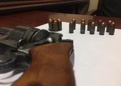 """Polis idarəsinə gətirilən Gəncə sakinin üzərindən """"Revolver"""" çıxdı"""