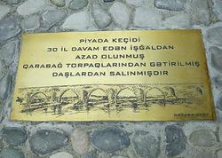 Qarabağdan gətirilmiş daşlarla Bakıda keçid salındı - VİDEO - FOTO