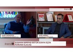 """Şuşanın bərpası dünya üçün nümunə olacaq - Elbay Qasımzadə """"Sahil Kərimli ilə Aktual"""" videolayihəsində"""