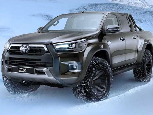 375-millimetrlik klirensi olan yenilənmiş Toyota HiLux AT35 pikapı təqdim edilib - FOTO