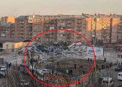 Rusiyada dəhşətli partlayış: bir neçə supermarket yerlə yeksan oldu - VİDEO