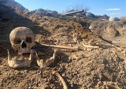 """Ağdamda kəhrizdə insan skeleti aşkarlandı - <span class=""""color_red"""">Trend TV-nin REPORTAJI</span>"""