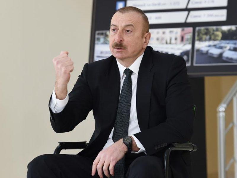 """Prezident İlham Əliyev: """"Həmin o """"İskəndər"""" raketlərini Ermənistan pulsuz alıb"""""""